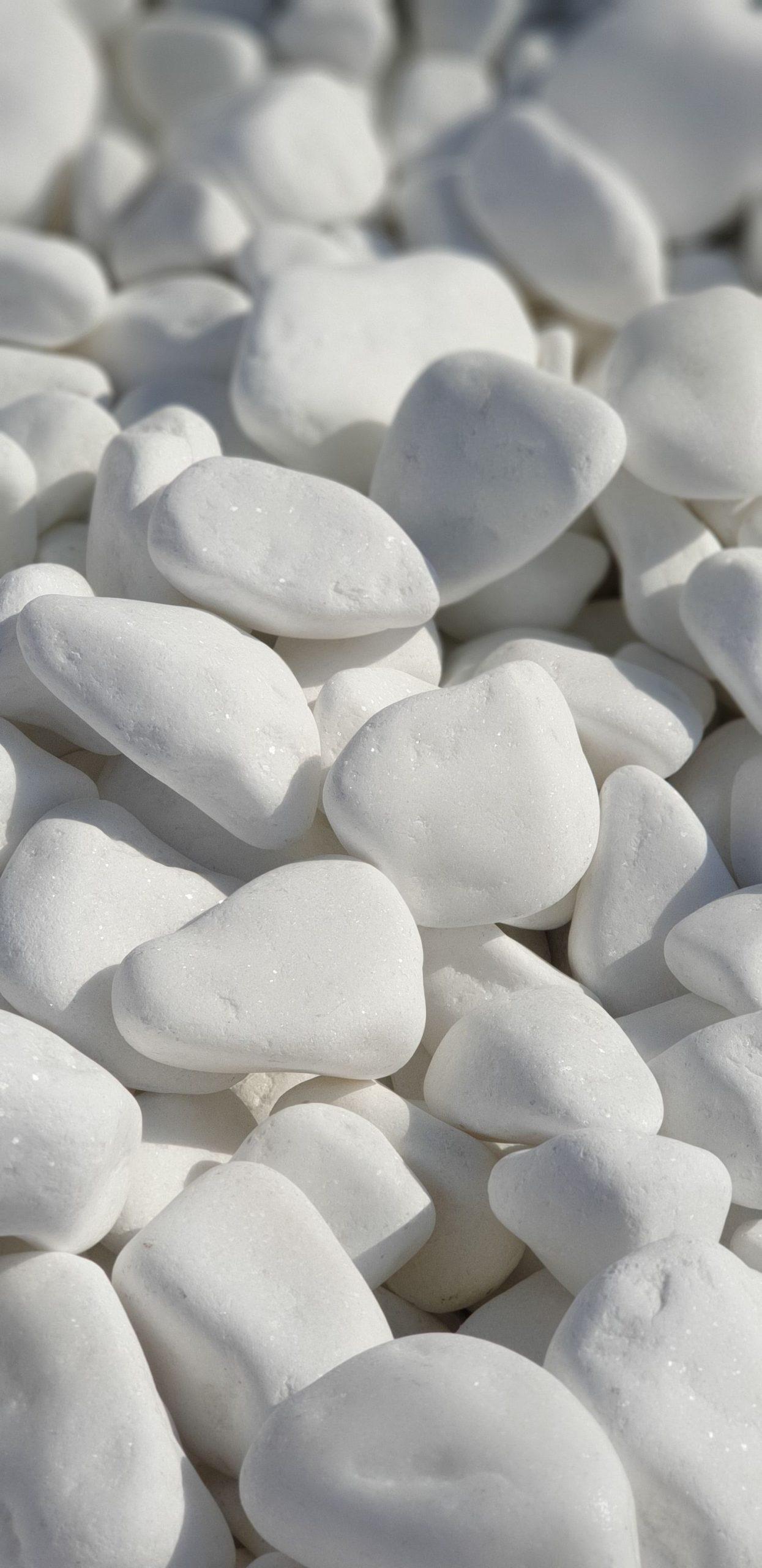 Piatra rotunjita Perfect White Thassos